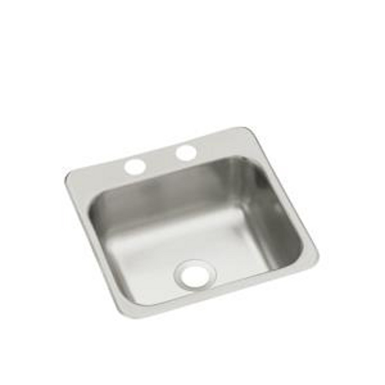 STERLING B153B-2 Secondary Sink 15-inch by 15-inch Top-mount Single Bowl Bar Sink, Stainless Steel