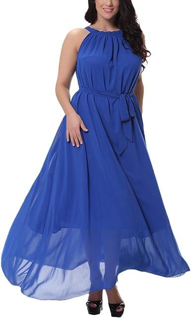 Zhhlinyuan Mujeres Tallas Grandes Gasa Noche Dama De Honor Vestidos Largos Maxi Boda Ball Gowns Vestido Fiesta Elegante Amazon Es Ropa Y Accesorios