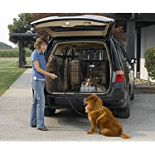 Midwest Side-by-Side Double Door SUV Crate with Plastic Pan, 42-Inch by 21-Inch by 30-Inch