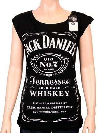 2b4d5c3ec3df36 Coole-Fun-T-Shirts Women s T-Shirt Jack Daniels Logo black Size L   Amazon.co.uk  Clothing