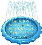 FEECHAGIER Water Splash Pad for Kids Summer Fun Charater Learning Backyard Outdoor …