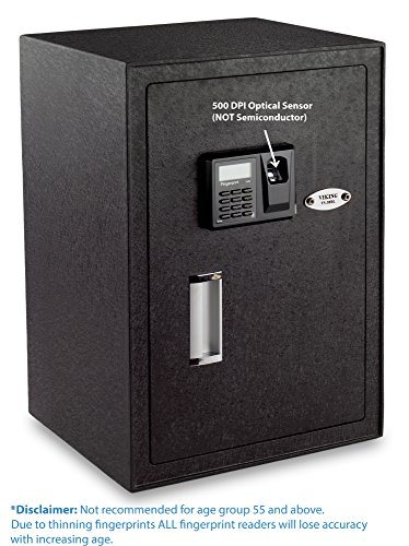 13. Viking Security Safe: VS-50BLX Large Biometric Fingerprint LCD Keypad Safe