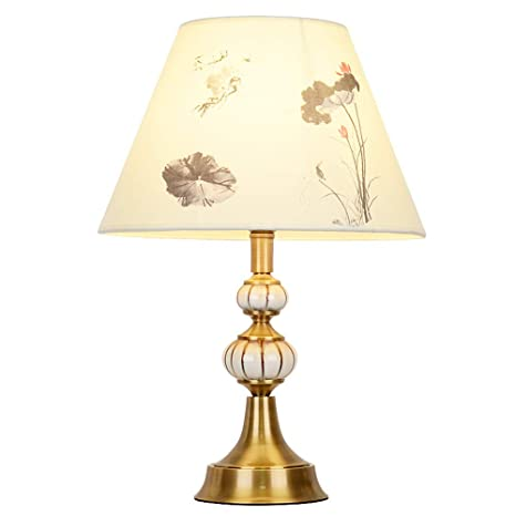 New Chinese-Style Copper Ceramic Table Lamp, Home Bedroom ...