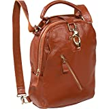 AmeriLeather Quince Leather Handbag/Backpack (Brown)