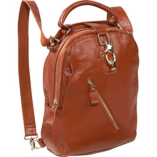 AmeriLeather Quince Leather Handbag/Backpack (Brown) by Amerileather