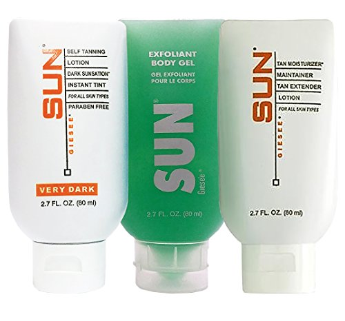 on Set 2 oz -Self Tanning Home Kit Self Tan Lotion,Exfoliant, Tan Maintainer Extender| Sunless Tanning Cream | Instant, Fast-Drying, Streak-Free Self Tanner | Natural Self Tan ()