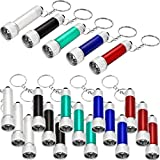 Tatuo 20 Pieces Mini Flashlights Keychain 5 Bulbs LED Keychain for Camping Kids Party Favors (Style 1)