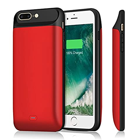 iPhone 7 plus Battery Case, Upgraded iPosible 7200mAh External Charger Case Protective Juice Pack Portable Power Case for iPhone 7 plus (5.5inch)[24 Month (Phone Case Charges)