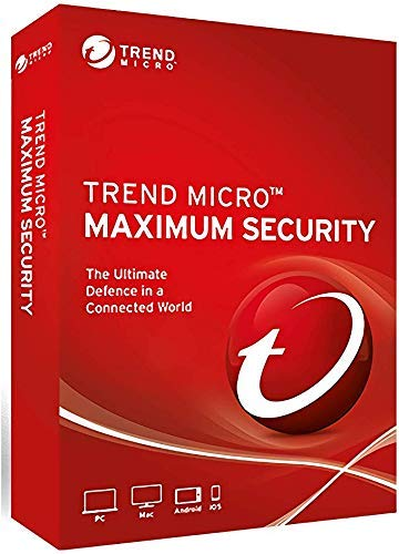 Trend Micro Maximum Security 5 Devices 3 Years for PC, Mac, Android & IOS