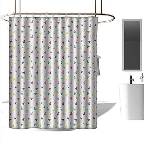 Amazon.com: Cortinas de ducha para baño Zigzag Swan, color ...