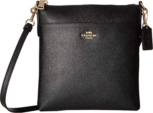 COACH Women's Crossgrain Messenger Crossbody Black/Gold One Size