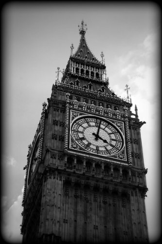 Big ben london england black and white print lnbw3905 4x6