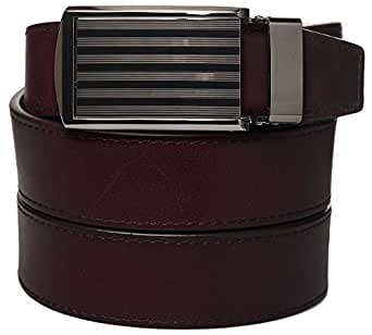 Cordovan Full Grain Leather with Bar Striped Buckle