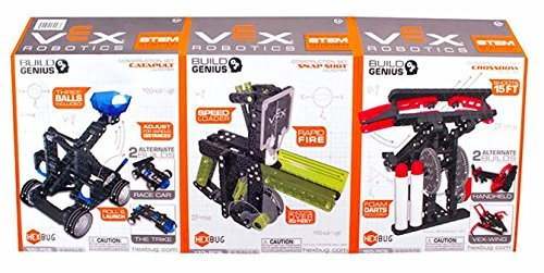 Hexbug VEX Robotics Bundle: SNAP SHOT, CROSSBOW, CATAPULT (3 packs) -