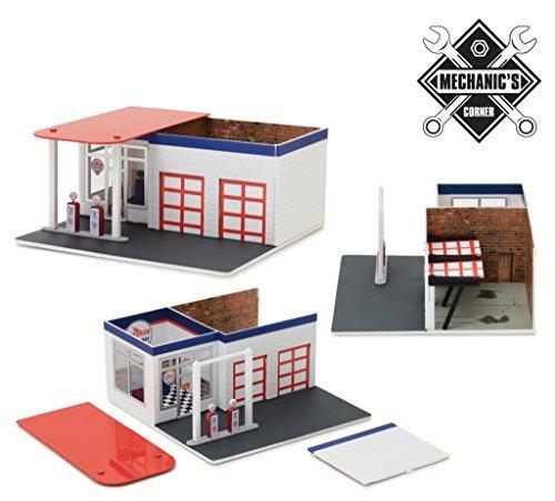 (Mechanic's Corner Series 2, Vintage Gas Station Chevron 1/64 by Greenlight 57022 )