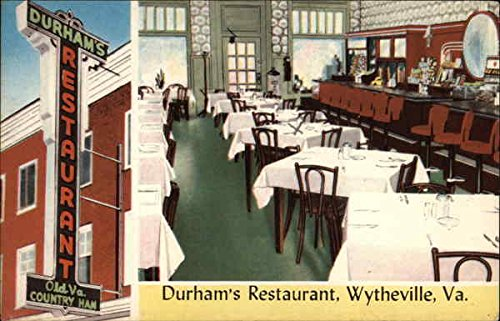 Durhams Restaurant Wytheville Virginia Original Vintage Postcard