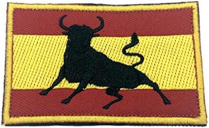 Parche Bordado con la Bandera de España para Airsoft, Paintball ...