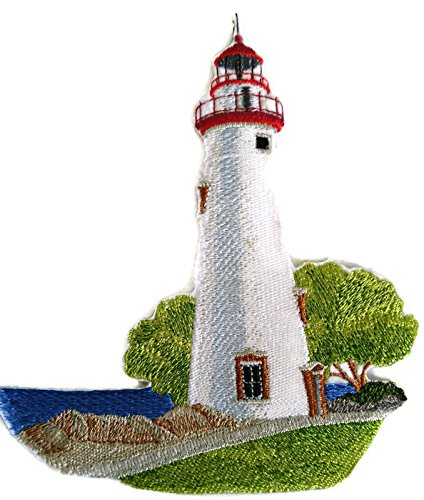 Custom and Unique Lighthouse[Marblehead Lighthouse] Embroidered Iron on/Sew patch [6.47