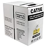 CAT5E PLENUM PURE COPPER 1000FT 350MHZ 24AWG WHITE SOLID NETWORK CABLE CMP