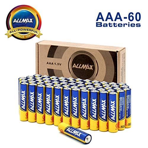 ALLMAX Premium Alkaline Batteries - AAA Battery (60 Pack) 1.5 Volt - All-Purpose, Leak-Proof, Ultra Long Lasting