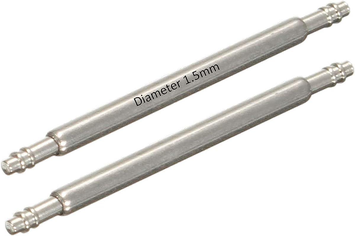 Masar 6 a 46mm 1.5mm o 1.6mm Swiss o Premium 316L Pasadores Barras de Resorte para Reloj INOX Watch Pins 2 o 4 Pcs