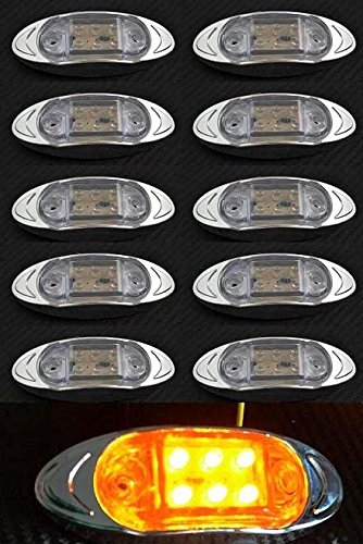 Juego de luces frontales de 24V para camiones caravana van bus autocaravana color blanco 10 piezas