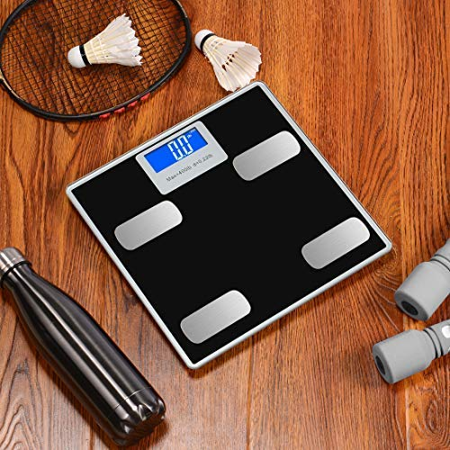 Weight Scale Bluetooth Body Fat Scales Digital Weight Smart Bathroom Scale with iOS &Android and APP Monitor Body Composition Weight, Body Fat, BMI, Water, Bone, Muscle and More 400lbs by Toye (Image #4)