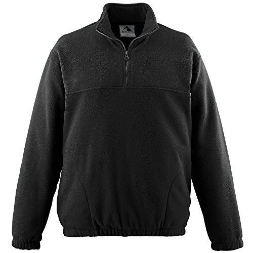 - Augusta Sportswear MEN'S CHILL FLEECE HALF-ZIP PULLOVER 3XL Black