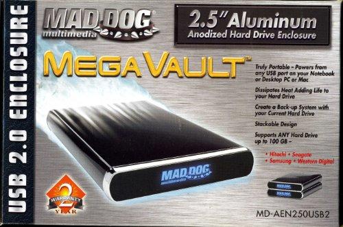 - MAD DOG MULTIMEDIA MegaVault MD-AEN250USB2 2.5 inch Hard Drive USB 2.0