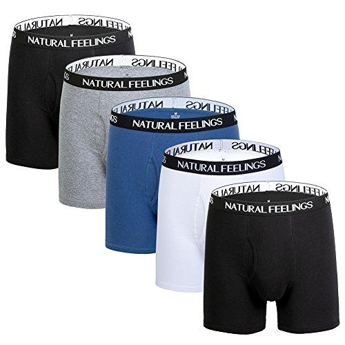 Mens Underwear Boxer Briefs Ultra Cotton Underwear Men Pack of 5 Contoured Pouch (Male Underwear Boxer Briefs)