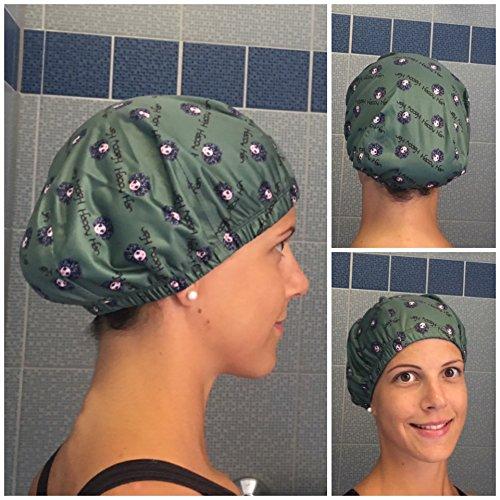 Happy Hair - bonnet de douche, spa, aquagym - Art. Happy Hair Cap Verde Militare