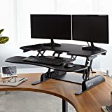 Height-Adjustable Standing Desk for Cubicles - VARIDESK Cube Corner 36