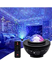 LingSi LED Star Projector Night Light, Galaxy Projector Light with Bluetooth Music Speaker/Timer/Remote Control, Colour Changing Rotating Star Light for Kids & Adults Home Wedding Party Decoration