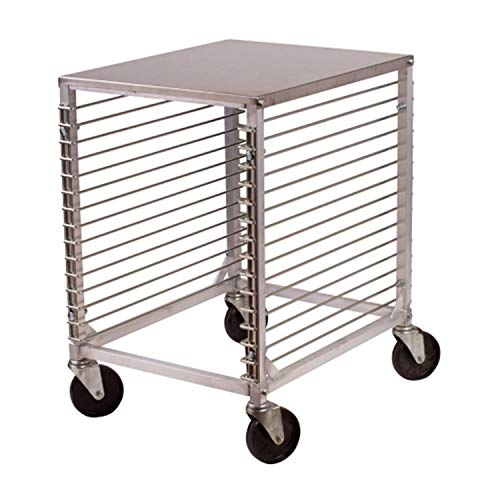 TigerChef 15-Tier Aluminum Sheet Pan Rack With Wire Slides And Hard Top Shelf Bakery Equipment For Sheet Pans (1, 15-Tier Rack)