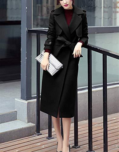 De Bolsillos Sólido Schwarz Abrigo Transición Mujer Botonadura Windbreaker Color Prendas Laterales Exteriores Estilo Moda Especial Manga Caliente Elegante Larga Parka 0qHFqavg