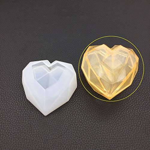 EAPTS Silicone Mold DIY Epoxy Resin Crafts Heart-Shape Storage Box Case Desk Table Decoration Organizer Jewelry Container Geometric Cutting Handmade Gifts Charms Cases