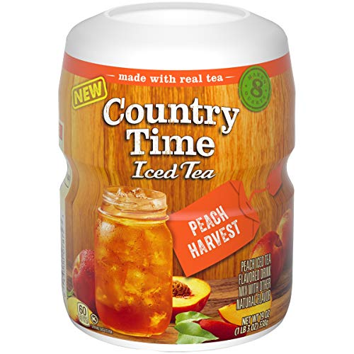Country Time Tea Peach Harvest Drink Mix (19 oz Canisters, Pack of 12)