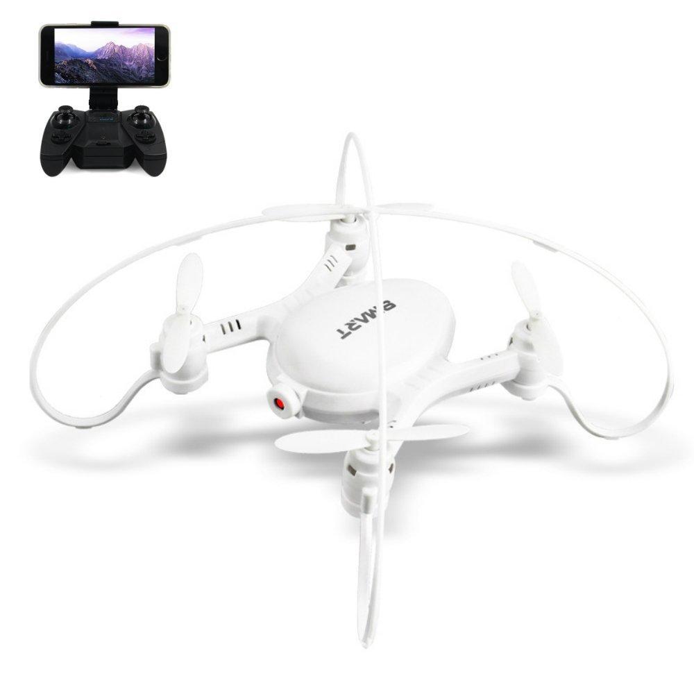 DeeXop Rabing 2,4 GHz 6 Assi giroscopio Rc Quadcapter FPV WiFi Remote Control Drone con 0.3MP HD Camera per Bambini Adulti Altitudine Tenere e Lancio Manuale (Bianco)