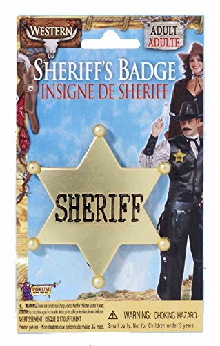 Forum Novelties Sheriff Star Badge - Plastic, One Size, Gold]()