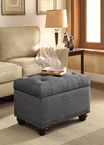 Convenience Concepts Designs4Comfort 5th Avenue Storage Ottoman, Gray by Convenience Concepts (Image #4)