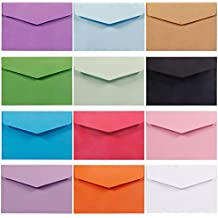 Selizo 120 Pieces Small Colored Envelopes, 4.5 x 3.2 in
