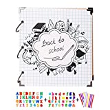SICOHOME Scrapbook Ablum,Back to School Momery Book,White