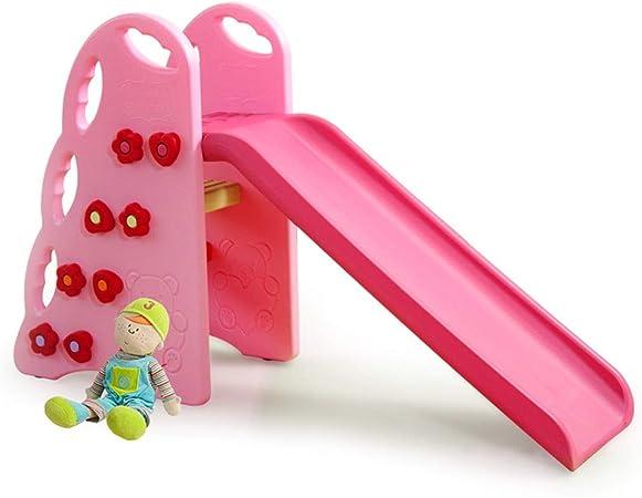 Tobogán para niños Hogar doméstico Diapositiva pequeña Jardín de Infantes al Aire Libre Diapositiva para bebés Juguetes de plástico Rodamiento de Carga 40 kg Bebé Diversión Área de Juegos: Amazon.es: Juguetes y