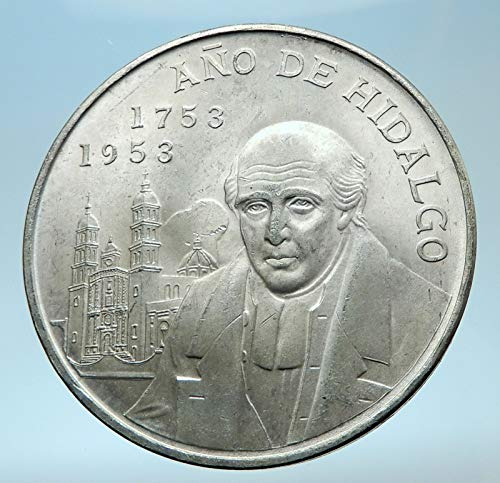 (1953 MX 1953 MEXICO Mexican Independence War Hero HIDALGO 5 Pesos Good Uncertified)