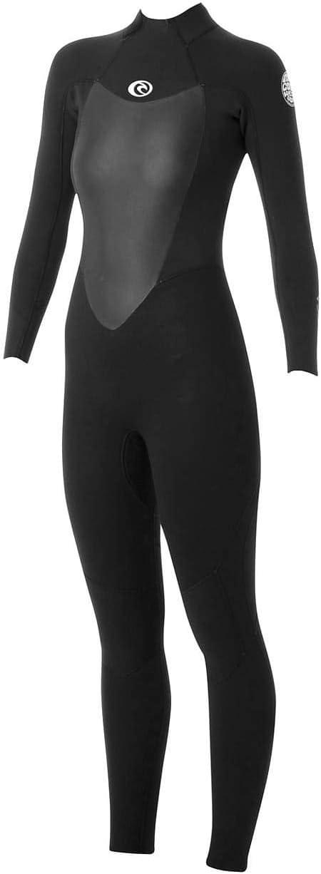 Rip Curl Women's Omega 3/2mm Back Zip Full Wetsuit - Black