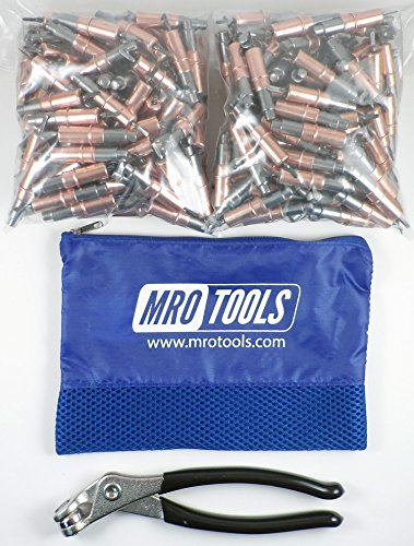 350 1/8 Heavy Duty Cleco Fasteners + Cleco Pliers w/ Carry Bag (KHD1S350-1/8) by MRO Tools Cleco Fasteners