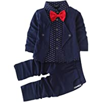 Si Noir by Hopscotch Boys Blazer Style Shirt and Pant Set in Navy Colour