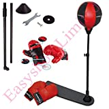 FB FunkyBuys Kids Childrens Sports Boxing Punching Bag Standing w/ Pair of Gloves Adjustable Height...