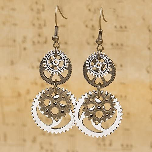DUANMEINAD Steampunk Earrings Antique Gorgeous product image