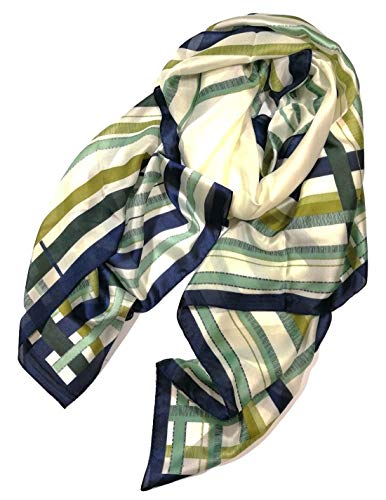 Shanlin Silk Feel Long Satin Patterned & Solid Color Scarves for Women -